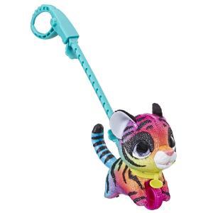 Интерактивная мягкая игрушка  Питомец на поводке Полосатая кошка цвет: розовый/желтый FurReal Friends