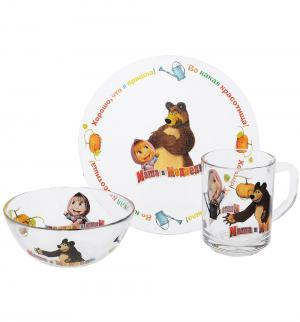 Набор посуды  Огород Маша и Медведь