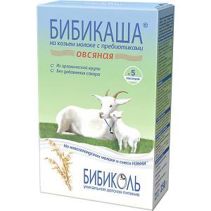 Каша  овсяная на козьем молоке 200 г, с 5 мес Бибиколь