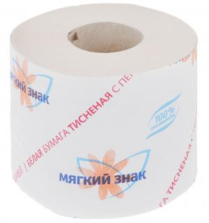 Туалетная бумага  однослойная, 1 шт Мягкий Знак