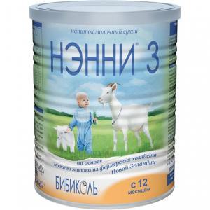 Молочная смесь  3 на козьем молоке гипоаллергенная с 12 месяцев, 400 г Нэнни