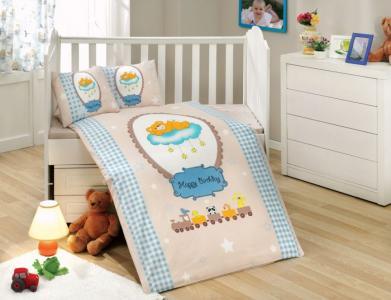 Постельное белье  BamBam 100х150 (5 предметов) Hobby Home Collection