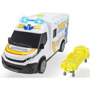 Машинка скорой помощи  Iveco Daily, 18 см, свет и звук Dickie Toys. Цвет: белый