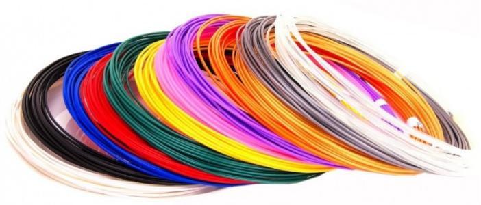 Комплект пластика PLA для 3Д ручек (12 цветов) Unid