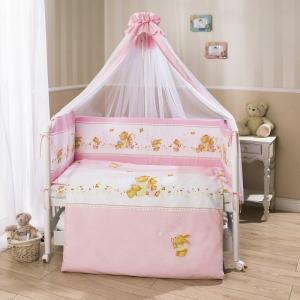 Комплект постельного белья  Фея, цвет: розовый 4 предмета Perina