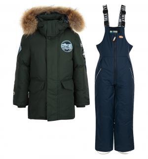 Комплект куртка/полукомбинезон  Timo, цвет: зеленый/синий Nels
