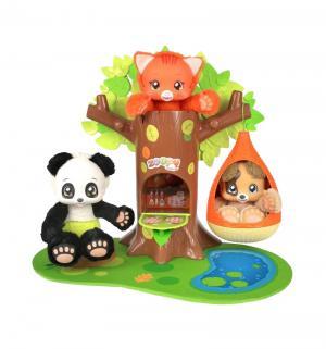 Набор игровой  Питомец Мишка + дерево с гнездом 23 см Zoopy