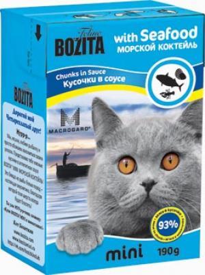 Влажный корм  Mini для взрослых кошек, морской коктель, 190г Bozita