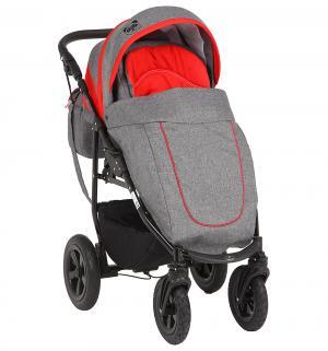 Прогулочная коляска  Panda, цвет: красный/серый Prampol