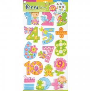 Наклейка Цифры для девочек RCA0805, Room Decor
