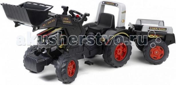 Трактор-экскаватор педальный с прицепом 210 см Falk