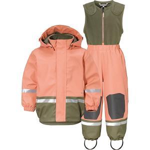 Комплект Didriksons Boardman: куртка и полукомбинезон. Цвет: оранжевый