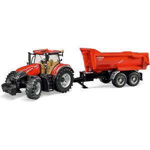 Машинка  Трактор Case IH Optum 300 CVX с прицепом Krampe Tandem-Halfpipe Bruder