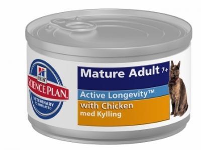 Влажный корм Hills Science Plan Active Longevity (Активное долголетие) для кошек в возрасте, курица, 85г Hill's