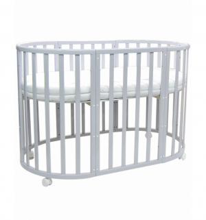 Кроватка-трансформер  Allure Gray, цвет: серый Everflo