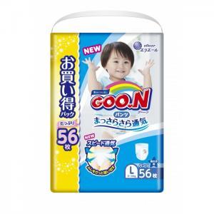Подгузники-трусики L (9-14 кг) для мальчика 56 шт. GooN
