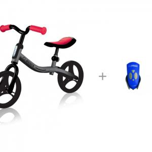Беговел  Go Bike и Звонок-фонарик для самокатов Mini Hornit 25 мелодий Globber