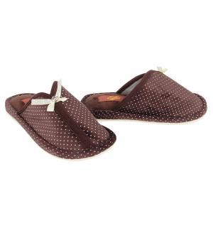 Тапочки , цвет: коричневый Effa