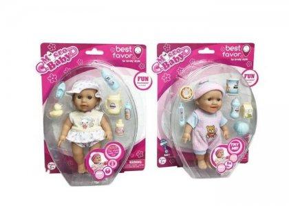 Кукла Micro Baby Пупс в костюмчике с аксессуарами 15 см 2805B Junfa