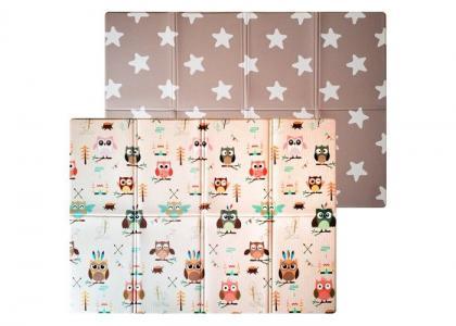 Игровой коврик  двухсторонний Soft Owl & Star (книжка) 190х130х1 см Mambobaby