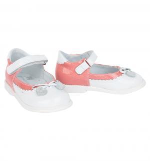 Туфли , цвет: коралловый/белый Shagovita