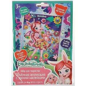 Объмная аппликация наклейками MultiArt Enchantimals. Бри Кроля. Цвет: разноцветный