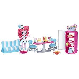 Мини-кукла Equestria Girls Пижамная вечеринка Кафе Пинки Пай Hasbro