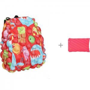 Рюкзак Bubble Half Monsters Under the Red 36 см с пеналом-сумочкой Zipit Neon Jumbo Pouch MadPax