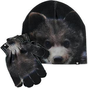 Комплект : шапка и перчатки Molo. Цвет: коричневый