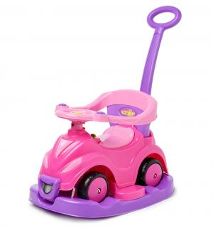 Каталка-автомобиль  4 в 1, цвет: розовый Dolu