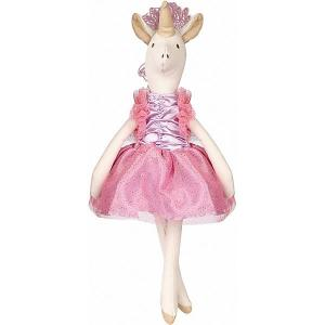 Мягкая игрушка  Единорог тильда, 34 см, бело-розовая Angel Collection. Цвет: розовый/белый