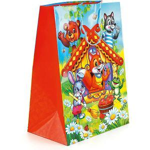 Пакет подарочный Теремок 33*46*20 см Веселый праздник