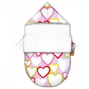 Конверт для новорожденного Сердечки mini (лето) QuQuBaby