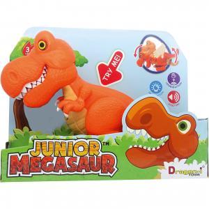 Динозавр Тирекс, со светом и звуком, оранжевый, Junior Megasaur Dragon-i