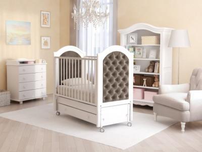 Детская кроватка  Софи Люкс (продольный маятник) Гандылян