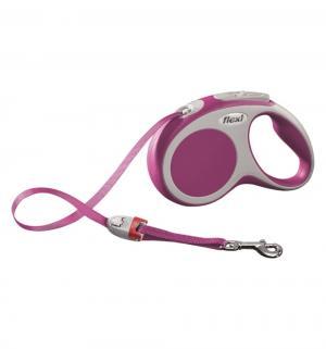 Рулетка VARIO ленточная S, 5м, до 15 кг, цвет: розовый Flexi