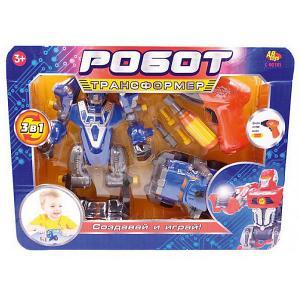 Робот-трансформер 3 в 1 Abtoys Создавай и играй с инструментами, синий