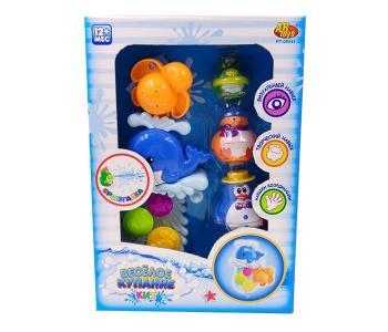 Игрушки для ванной Веселое купание в наборе с аксессуарами (5 предметов) ABtoys