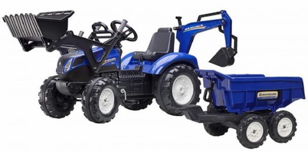 Трактор-экскаватор педальный с ковшом и прицепом FAL 3090W Falk