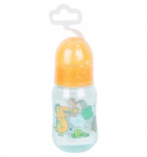 Бутылочка  с силиконовой соской полипропилен рождения, 125 мл, цвет: бирюзовый Мир Детства