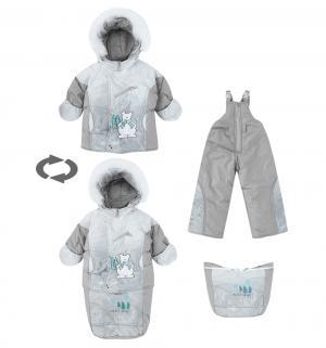Комплект куртка/полукомбинезон/сумка  Пони, цвет: серый Alex Junis