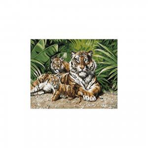 Роспись по номерам Тигры 40*50 см TUKZAR