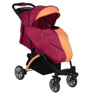 Прогулочная коляска  Tetra, цвет: бордо/оранжевый BabyHit