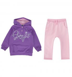 Комплект толстовка/брюки  Мишки, цвет: фиолетовый Umka