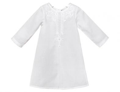 Крестильная рубашка модель 1 с вышивкой Золотой Гусь