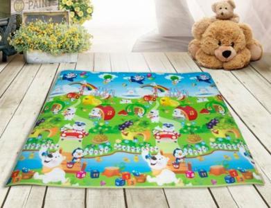 Игровой коврик  Забавный алфавит Мишка на радуге 180х200 см BabyPol