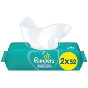 Детские влажные салфетки  Fresh Clean, 2 х 52 шт Pampers