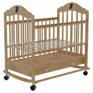 Детская кроватка  7 колесо-качалка автостенка с ящиком Briciola