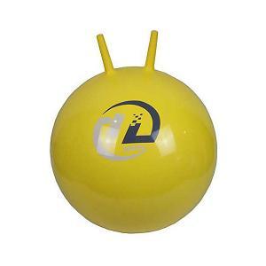 Мяч-попрыгун  с рожками, 45см, желтый Z-Sports