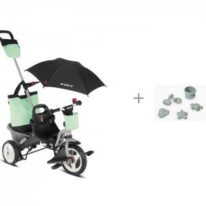 Велосипед трехколесный  Ceety Comfort и Комплект для игры с песком 50631 Happy Baby Puky